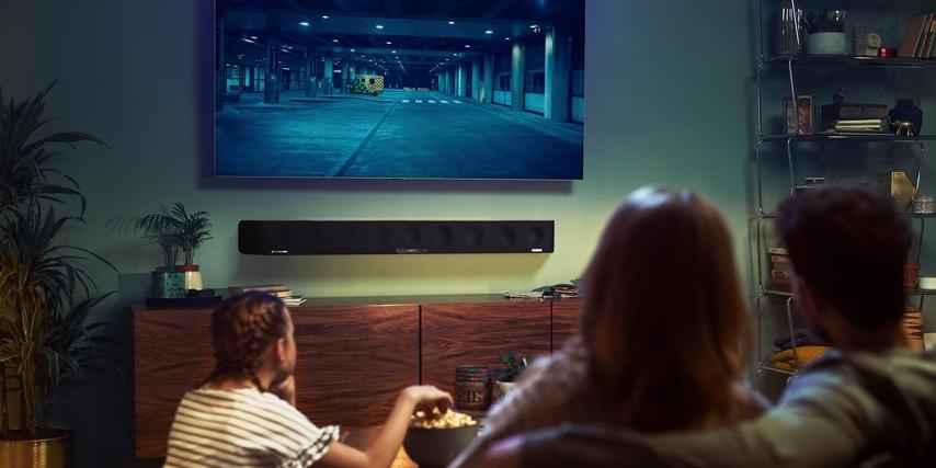 Soundbarens 3D-presets kaster lyden realistisk rundt i rummet